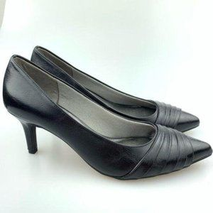 New life stride heels size 9.5 39.5 Stacy black